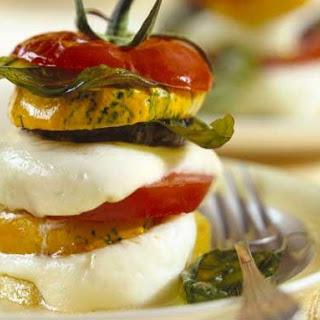 Zucchini, Tomato and Mozzarella Towers.