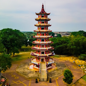 Buddhist temple at Kemaro Island by Irfan Firdaus - Buildings & Architecture Statues & Monuments ( travel photography, island, heritage, river, indonesia )