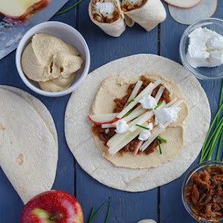 Caramelized Onion Apple Wraps with Hummus Recipe