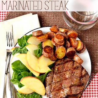 Dijon-Brown Sugar Marinated Steak.