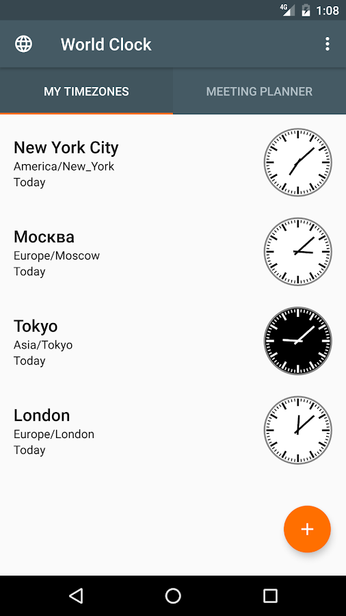 World Clock Widget 2017 Free- screenshot