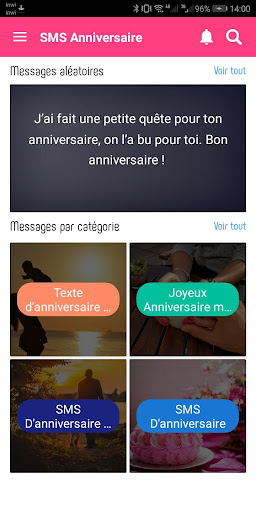 SMS Anniversaire 2020 4.0 screenshots 2