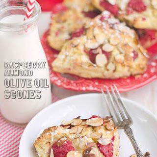 Raspberry Almond Olive Oil Scones.