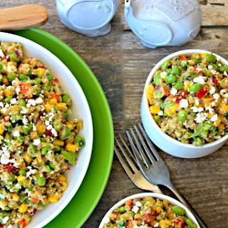 Loaded Quinoa and Edamame Salad.