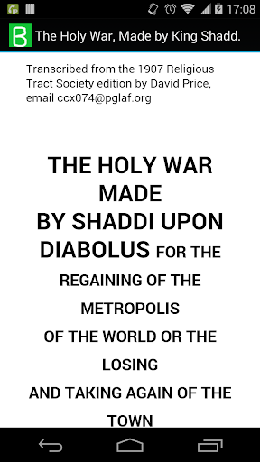 The Holy War Made by Shaddai
