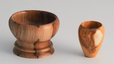 "Photo: Ed Karch 2"" x 2"" little vessels [ & yew]"