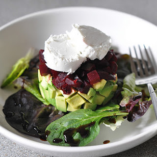 Avocado and Beetroot Tartare.
