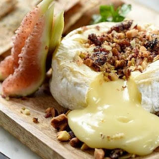 Camembert with Fig Relish and Nut Crumble