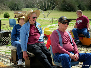 Photo: Virginia & Gil Freitag with Ed Rains while Andy Isles backs up in the background     HALS Chili Fest Meet 2014-0301 RPW