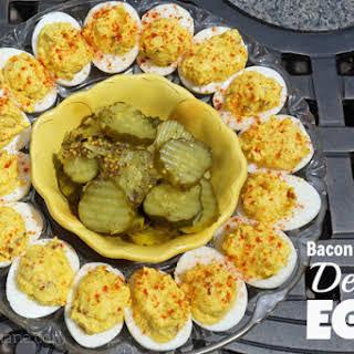 Bacon & Cheddar Deviled Eggs.