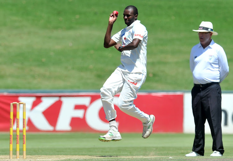 Ethy Mbhalati in action for the Titans in March 2016. The fast bowler opened up about his experiences of racism in cricket after Proteas player Lungi Ngidi was attacked for supporting the Black Lives Matter (BLM) movement.