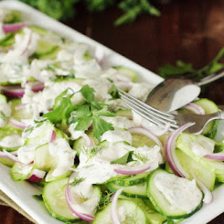 Creamy Cucumber Salad with Fresh Herbs