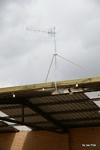 Photo: Antenna pointing to Telstra node as part of the 'Intelligent Repeater' set up for Telstra mobile phone service close to the Cel-Fi Repeater