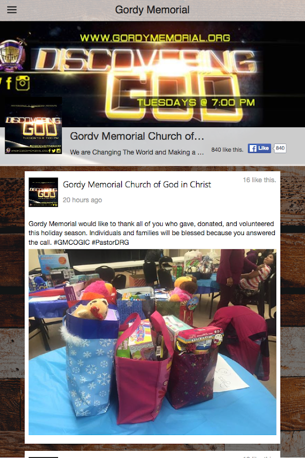 Gordy Memorial- screenshot