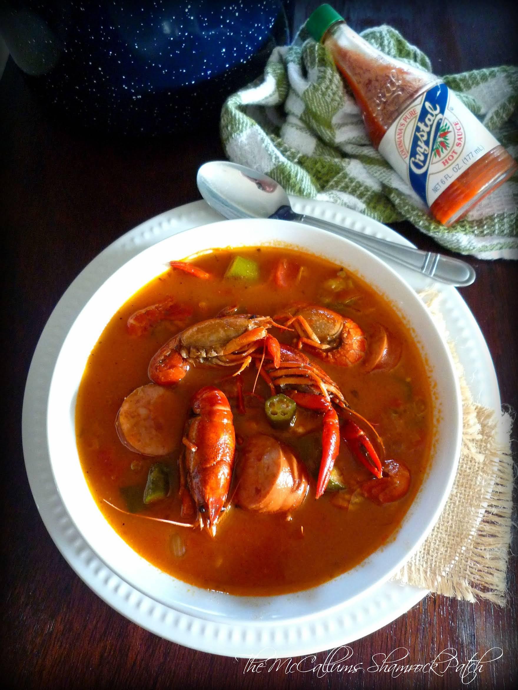 Creole Crawfish Gumbo