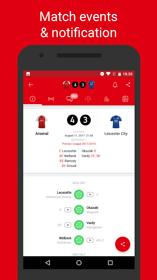 Arsenal Live — Goals & News for Arsenal FC Fans- screenshot