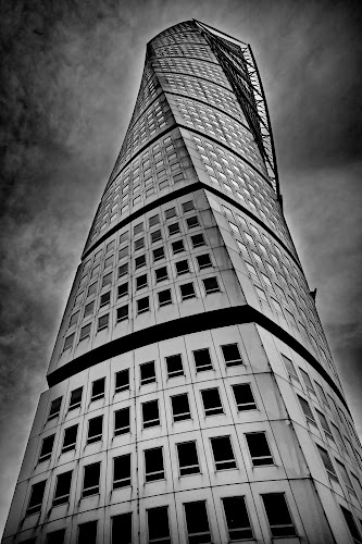 Turning Torso in Malmö by Péter Mocsonoky - Buildings & Architecture Office Buildings & Hotels ( sweden, tower, malmö, 2015, twist, turning torso, dark, architecture, high )