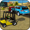 Excavator Car Transport Forklift Simulator icon