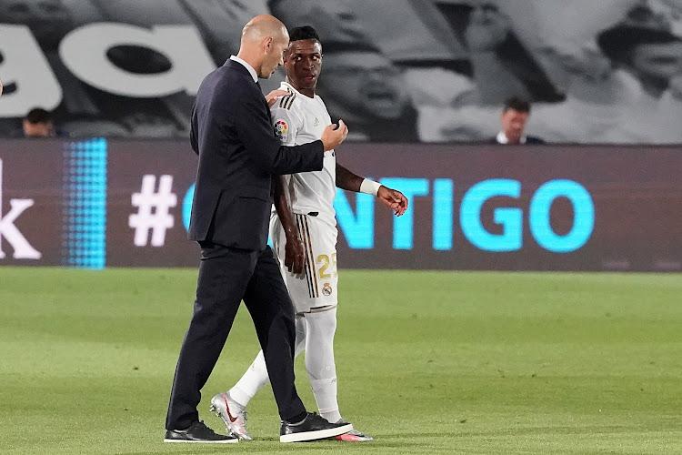 Vinicius Junior encense Zinedine Zidane