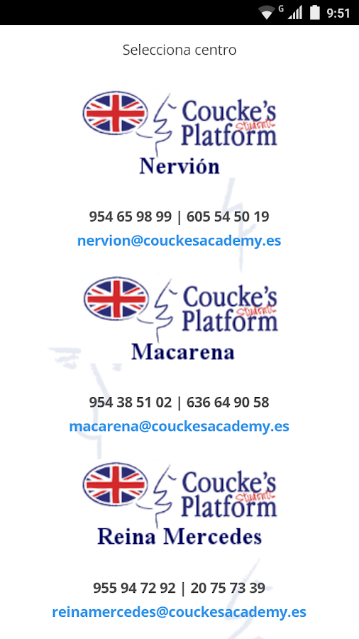 Coucke's APP Students Platform- screenshot