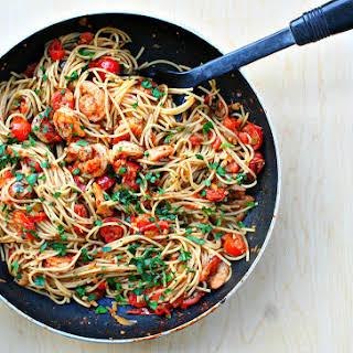 Spicy Cajun Shrimp Pasta.