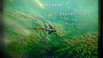 Photo: apparently we flew over Bielsko-Biala!