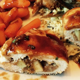 Apple Stuffed Chicken Breast.