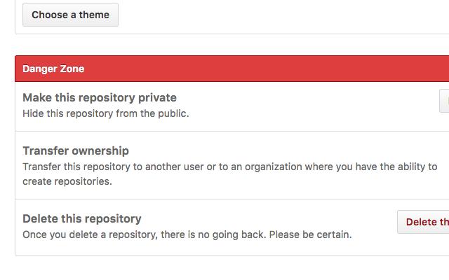 GitHub Danger Zone Destroyer