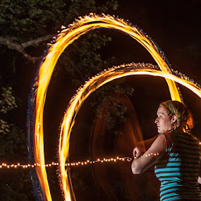 Fire Jam by Bud Branch - People Musicians & Entertainers ( fire spinning, pwcflashes )