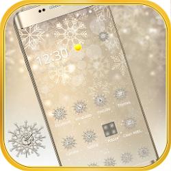 Snowflake theme silver