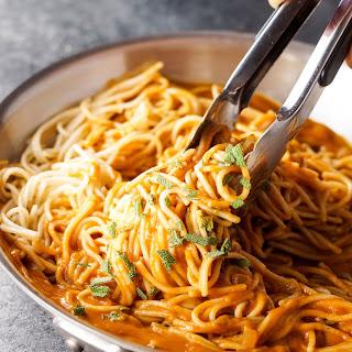 Vegan Tuscan Pumpkin Pasta Sauce.