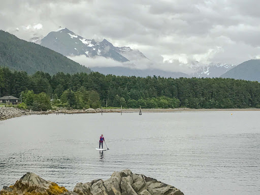 paddleboarding-in-sitka.jpg - A stand-up paddleboarder goes out for a spin in Sitka.