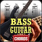 Bass guitar chords icon