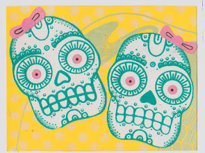 Photo: Mail Art 365 Day 21 card 21a this did not scan right, the hot pink paper I use is too hot for the scanner to handle and shows up light pink