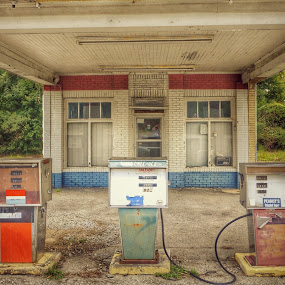 Gas station closed by Debra Graham - Buildings & Architecture Decaying & Abandoned ( gas station )