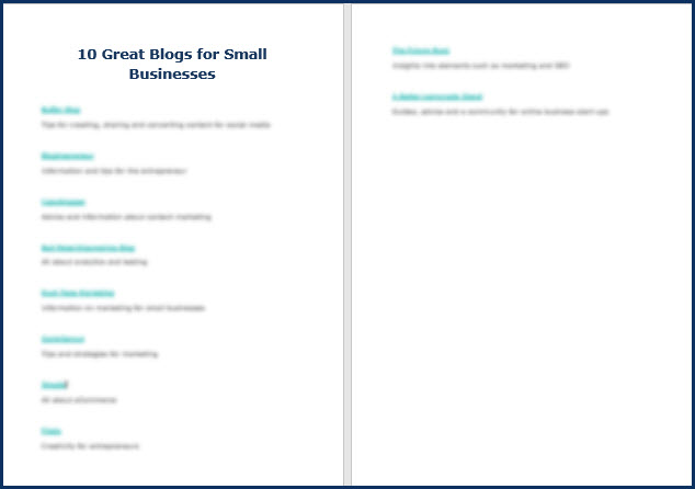 Blogging Mastery - Bonus Top 10 Blogs