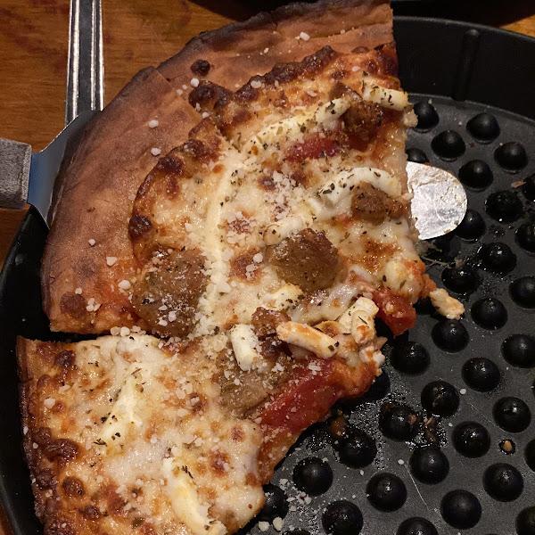 Gluten free lasagna pizza
