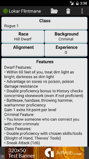 Fifth Edition Character Sheet  screenshots 5