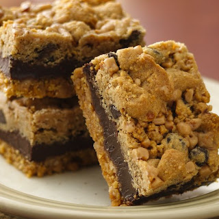 Fudgy Chocolate Chip-Toffee Bars.