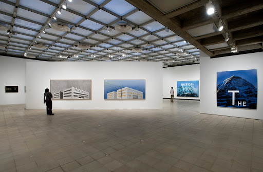 Installation view: Ed Ruscha: 50 Years of Painting, Hayward Gallery, 2009. Photo: Marcus Leith