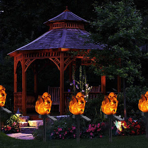 Set 2 x Lampa solara de gradina, decoratiune veverita