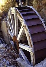 Photo: Old waterwheel, Toiyabe Range, Nevada
