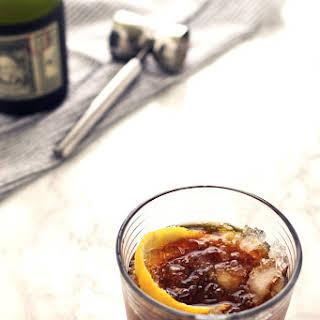 Black Stripe Cold Rum Cocktail.