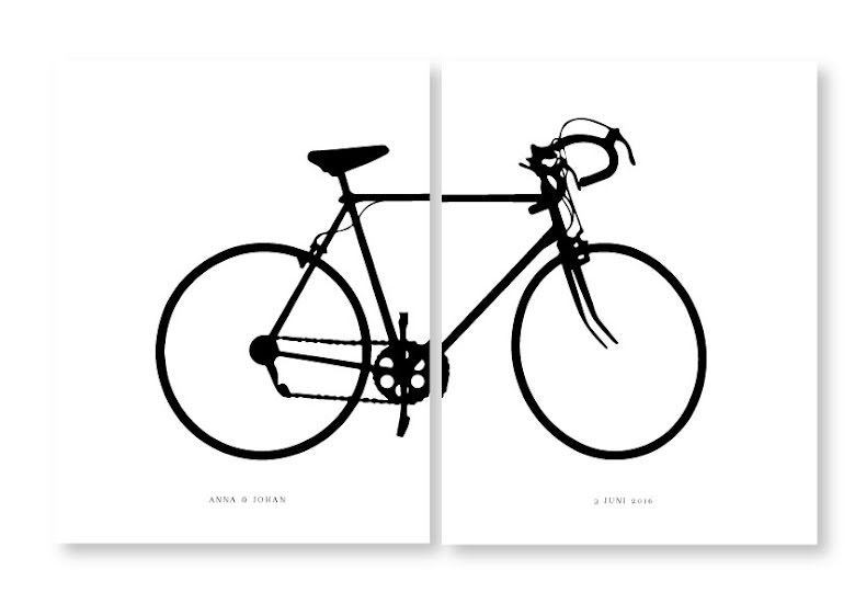 BICYCLE  CYKEL PARPOSTERS 2 ST