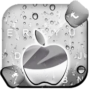 Free Raindrops Silver Apple Keyboard Theme APK for Windows 8