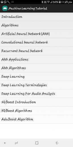 Machine Learning Tutorial