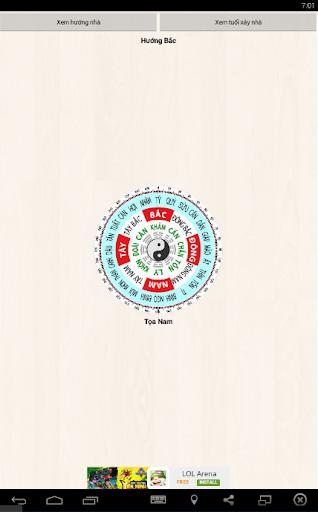 La bàn Phong thủy : Compass