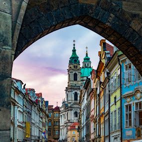 Old Prague by Santanu Majumder - City,  Street & Park  Historic Districts ( historic, old, prague, citiscape, arches )