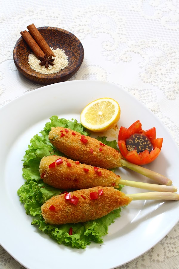 Fried Sate Lilit by Dian Permatasari - Food & Drink Cooking & Baking ( bali, sate, food, indonesia, traditional )