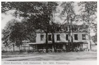 Photo: 1921 Café Restaurant Hotel Boschhek tegenover het Mastbos (sinds 1883)